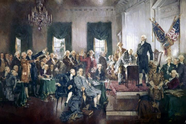 Historical Image of U.S. Constitution Signing